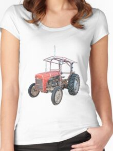 Grey Fergie Tractor  Women's Fitted Scoop T-Shirt