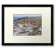 Colours by the sea.  Framed Print