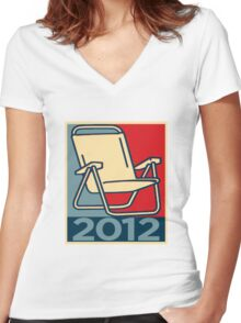 Chair 2012 Women's Fitted V-Neck T-Shirt