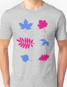 Bold Leaves Pattern T-Shirt