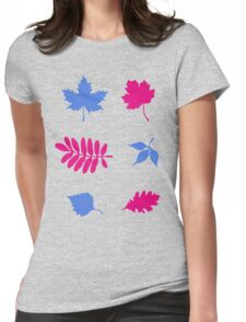 Bold Leaves Pattern Womens Fitted T-Shirt