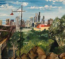 Melbourne Skyline by Initially NO