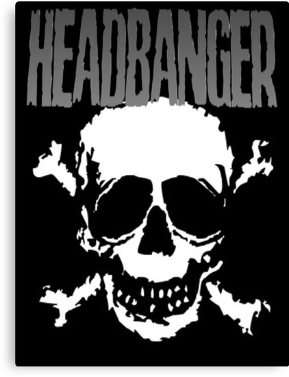 Headbanger Skull by MetalheadMerch