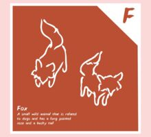 F is for Fox Baby Tee