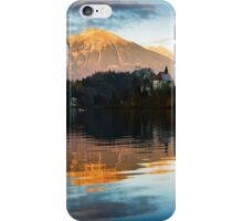 Sunset over Lake Bled iPhone Case/Skin