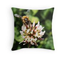 Bees and clover go together Throw Pillow