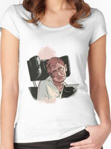 Stephen Hawking Women's Fitted Scoop T-Shirt