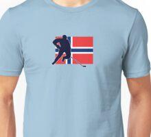 I Love Norge - Norway National Flag & Hockey Player Skjorte Unisex T-Shirt