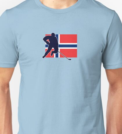 I Love Norge - Norway National Flag & Hockey Player Skjorte Unisex T-Shirt