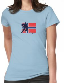 I Love Norge - Norway National Flag & Hockey Player Skjorte Womens Fitted T-Shirt