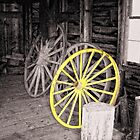 Wagon Wheel House by Sharon Woerner