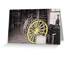 Wagon Wheel House Greeting Card