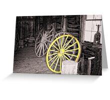 Wagon Wheel House Greeting Card
