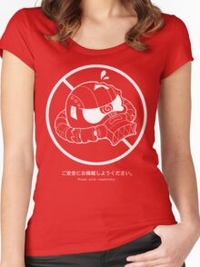 PSA (Zaku + white lines ver) Women's Fitted Scoop T-Shirt