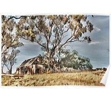 Old Shack - Photo Painting Poster