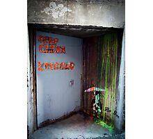 """Keep Clear - Loading"" Graffiti  Photographic Print"
