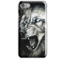 Snarling white ghost wolf iPhone Case/Skin