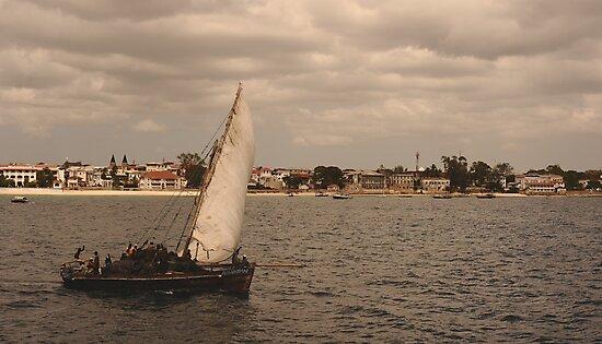Public boat,f Zanzibar island by Konstantin Zhuravlev