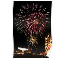 Fireworks, Gold Coast, Australia Poster