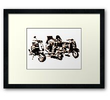 Scooters, Pop Art Style Framed Print