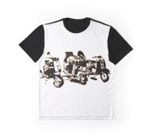 Scooters, Pop Art Style Graphic T-Shirt