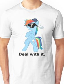 Deal with it Rainbow Dash Unisex T-Shirt