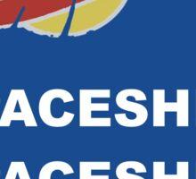 SPACESHIP SPACESHIP SPACESHIP Sticker