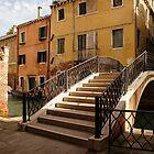 Venice, Italy - Intricate Wrought Iron Bridge by Georgia Mizuleva