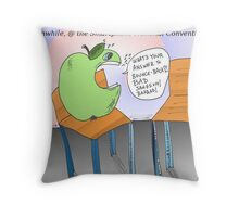 An Apple and an empty chair Throw Pillow