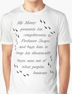Marauders Map Mr Moony Graphic T-Shirt