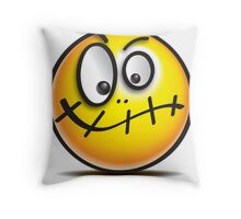 Confused Emoji - Bad day at the office! Throw Pillow