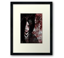 Pain(With Poem) Framed Print