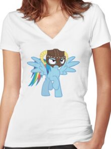 Rainbow Dash is Dragonborn Women's Fitted V-Neck T-Shirt