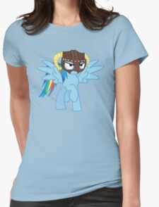 Rainbow Dash is Dragonborn Womens Fitted T-Shirt