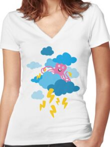 Who Makes the Thunder? - in PINK Women's Fitted V-Neck T-Shirt