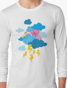 Who Makes the Thunder? - in PINK Long Sleeve T-Shirt