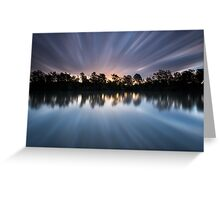 """Warp 10"" ∞ Brisbane River, QLD - Australia Greeting Card"