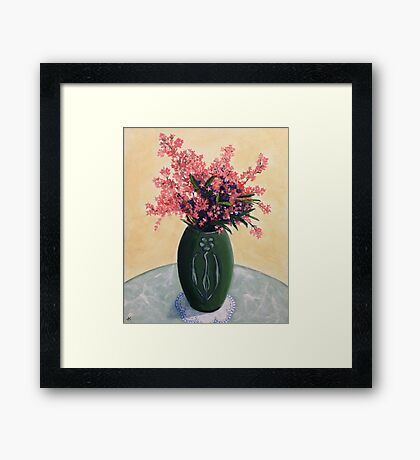 Christmas Bush in an Arts and Crafts Vase Framed Print
