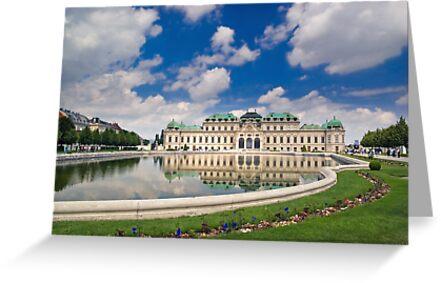 Belvedere Palace, Vienna, Austria by Ivo Velinov