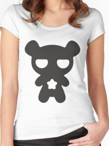 Lazy Bear B&W Women's Fitted Scoop T-Shirt