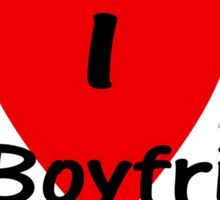 I Love My Boyfriend T-shirt Top Sticker