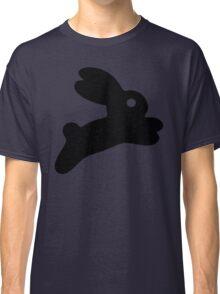 Jumping Black Bunny Classic T-Shirt