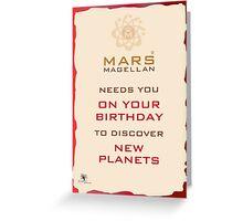 Mars Magellan New Planets Birthday Card Greeting Card