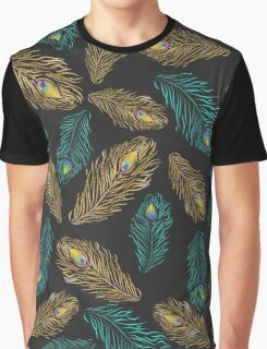Elegant trendy peacock feathers pattern Graphic T-Shirt