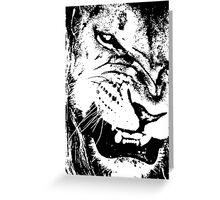 B&W Lion Greeting Card