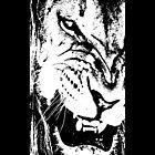 B&W Lion by Rastaman