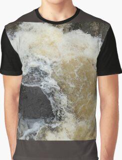 Water Over The Weir, Cataract Gorge, Launceston, Tasmania, Australia. Graphic T-Shirt