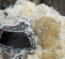 Water Over The Weir, Cataract Gorge, Launceston, Tasmania, Australia. by kaysharp