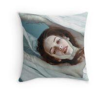 Eva bath Throw Pillow