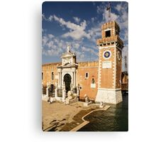 Venice, Italy - the Lions at Venice Arsenal Canvas Print
